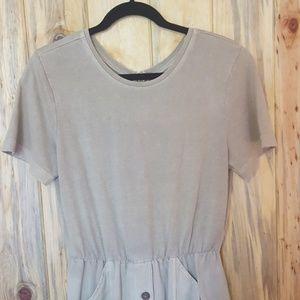 Vintage Dresses - Vintage tan romper dress